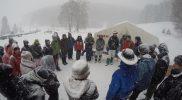 Leiterrunde im Schneetreiben